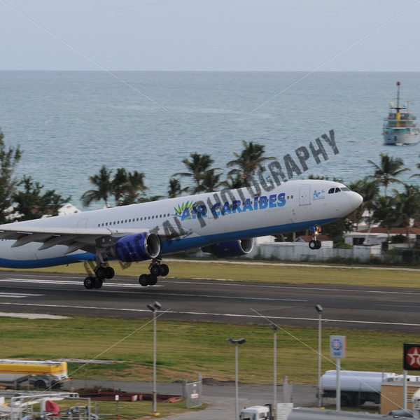 Air Caraibes Taking off - JW Digital Photography