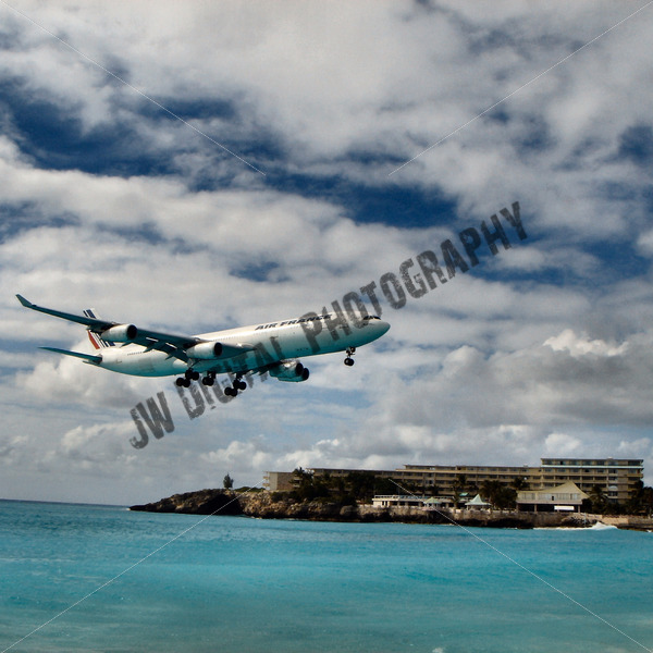 Air France Landing - JW Digital Photography