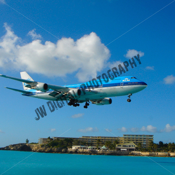 KLM Landing Beach View - JW Digital Photography