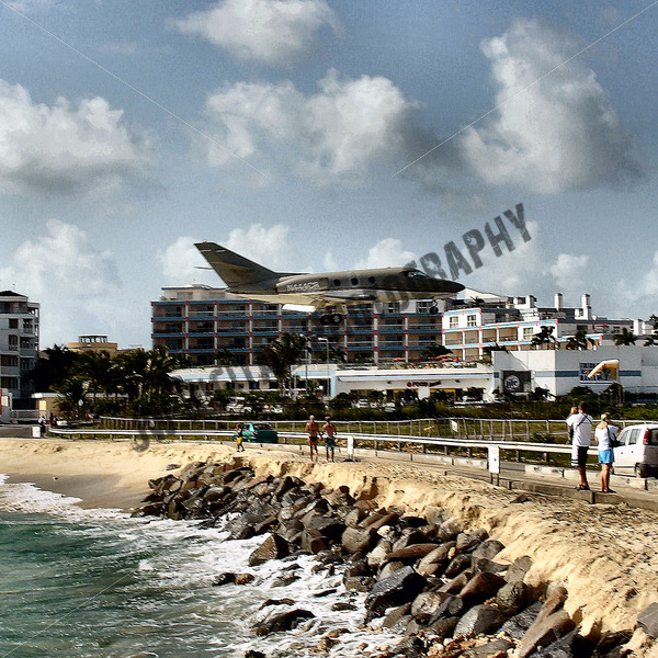 Private Plane Landing - JW Digital Photography