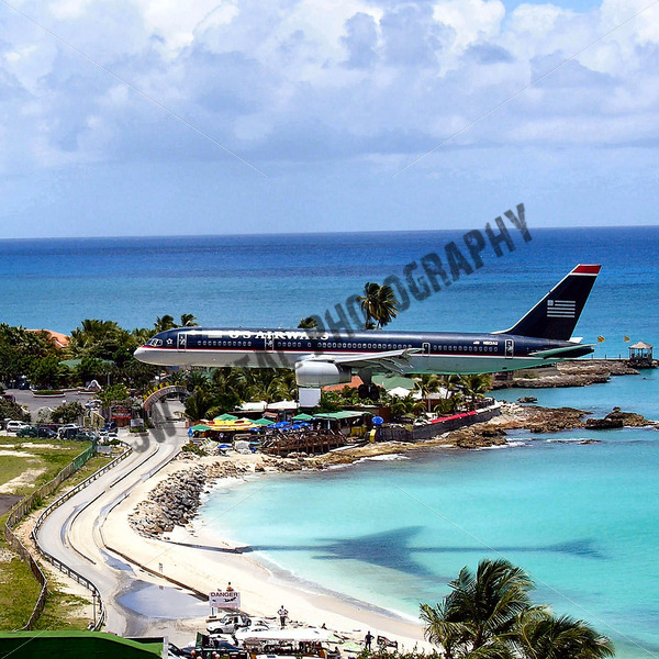 US Airways Landing - JW Digital Photography